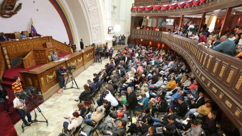 The National Constituent Assembly in session with representatives of the working class observing in the balcony